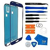 MMOBIEL Front Glas Reparatur Set für Samsung Galaxy S4 i9500 i9505 Series (Blau) Display Touchscreen mit 11 TLG. Werkzeug-Set inkl passgenauem Klebe-Sticker/Pinzette / Saugnapf/Metall Draht/Tuch
