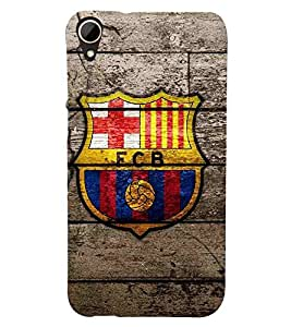 For HTC Desire 828 Dual Sim yellow icon, football, icon, wood board background Designer Printed High Quality Smooth Matte Protective Mobile Pouch Back Case Cover by BUZZWORLD