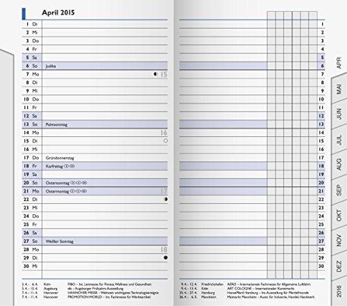 BRUNNEN 1075300 Taschenkalender/Monats-Sichtkalender Modell 753 Ersatzkalendarium (2 Seiten = 1 Monat, 8,7 x 15,3 cm, Kalendarium 2020) Mod-telefon