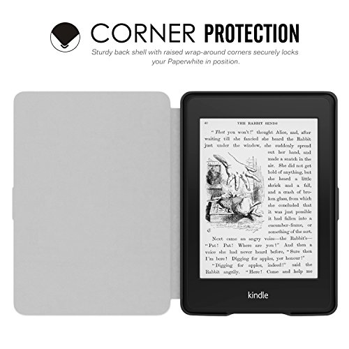 MoKo Etui Amazon Kindle Paperwhite - étui Flip en cuir super fin et léger pour Amazon All-New Kindle Paperwhite, NOIR Newspaper Berge