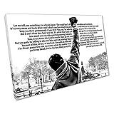 """Kunstdruck auf Leinwand, Rocky Balboa-Zitat: """"Let Me Tell You"""", Schwarz und Weiß , schwarz / weiß, 61 x 41 x Depth 2cm"""