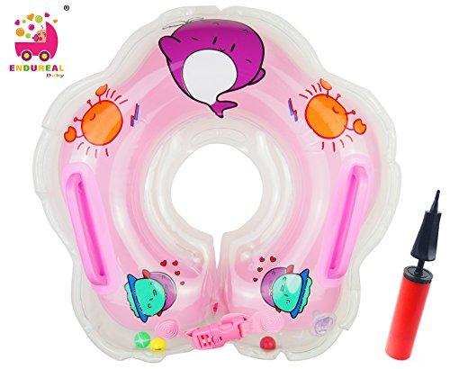 Kleinkind Kinder Schwimmender Schwimmen Ring Aufblasbarer Baby Schwimmring Kommt mit Einer Hand-Schnellpumpe by Endureal(Rosa)