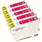 *TITOPATEN* 5x Epson Stylus Office BX 535 WD Plus kompatible XL Druckerpatrone ersetzt Typ T1291-1294 - Magenta - Patrone MIT CHIP !!!