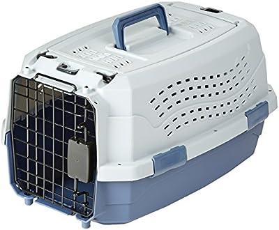 AmazonBasics - Transportín para mascotas con carga superior y dos puertas