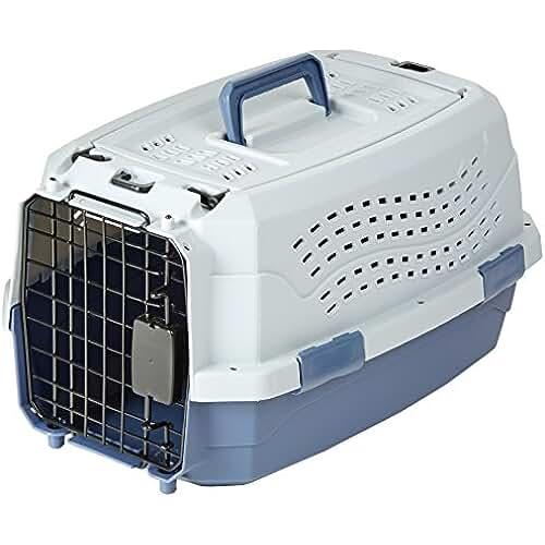 regalos kawaii gato AmazonBasics - Trasportín de 2 puertas con carga superior, 48 cm