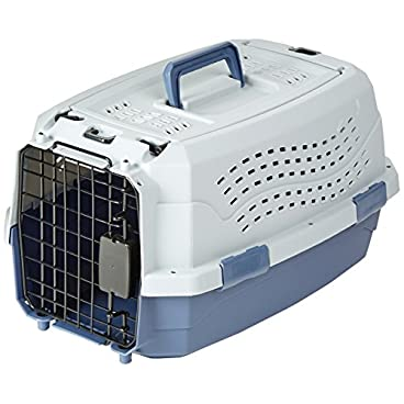 AmazonBasics X-Inch (X cm) Two-Door Top-Load Pet Kennel