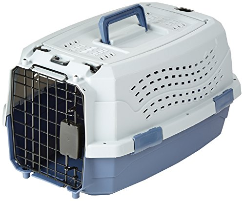 AmazonBasics 19-Inch (48 cm) Two-Door Top-Load Pet Kennel