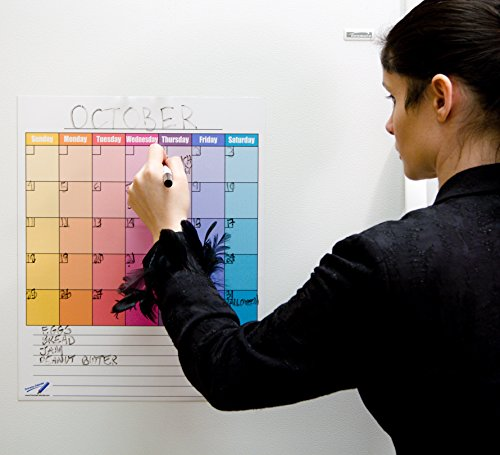 Dry Erase Calendrier mensuel Aimants magnétiques planches L–35,6x 43,2cm Couleur de cuisine magnétique planches
