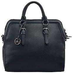 Diana Korr Womens Handbag (Black) (DK48HBLK)