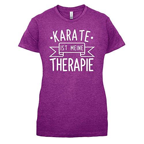 Karate ist meine Therapie - Damen T-Shirt - 14 Farben Beere