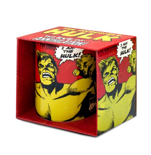 Marvel Comics - rot - Tasse - Lizenziertes Originaldesign - LOGOSHIRT (Film Qualität Hulk Kostüm)