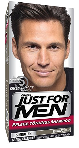 Just for Men - H55 - Haarfärbemittel, Pflege Tönungs Shampoo, Schwarz