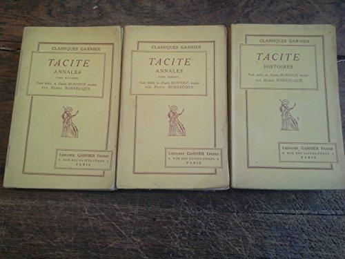 Lot de 3 livres de Tacite : Annales tomes 1 et 2 + Histoires - texte tabli et d'aprs Burnouf traduit par Henri Bornecque Librairie Granier frres