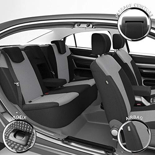 DBS 1011903 Coprisedili Auto / Vettura - Su Misura - Rifinizioni Alta Gamma - Montaggio Rapido - Compatibile Airbag - Isofix