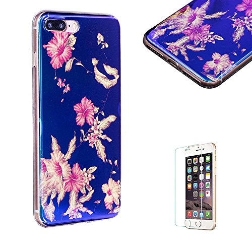 for-iphone-7-plus-case-55inch-case-with-free-screen-protector-funyye-new-retro-artistic-flower-blink