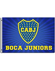Boca Juniors-Drapeau Boca Juniors avec 2 Œillets Football, Bleu, FR : 150 x 90 cm (Taille Fabricant : 150 x 90 cm)