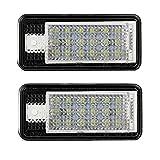 2 X LED Luces de la Placa de Matrícula Luces Traseras 5050 SMD LED Universal 12V