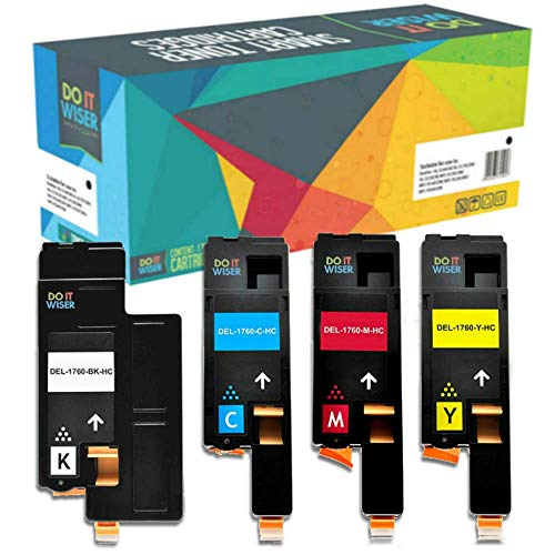Do it Wiser 4 Compatible Toner Cartridges for Dell 1250c 1350cnw 1355cn  1355cnw C1760nw C1765nf C1765nfw