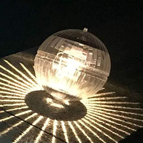 Solarbetriebenes Schwimmbeckenlicht, LED-Schwimmbeckenlicht Wasserdicht Farbwechsel, LED-Licht Schwimmbecken-LED-Licht für Pond Spa Hot Tub Party(Warm Yellow)