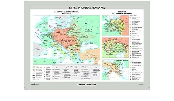 Cartina Geografica Prima Guerra Mondiale.Amazon It La Prima Guerra Mondiale E Il Mondo Nel 1914 Carta Murale Storica Libri