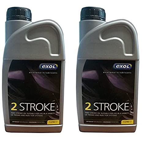 2 x 1LTR Exol 2 Stroke Oil - 2T chainsaw scooter moped strimmer hedge trimmer two stroke oil