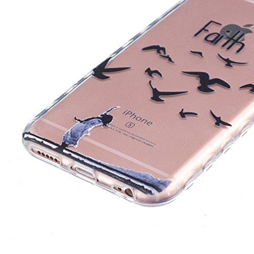 Sunroyal Hülle für iPhone 6/6S Plus (5.5 inches) Silicone Case Cover, Scratch-resistant Ultra Slim TPU Case Cover Soft Protective with Pattern Design Transparent Soft silicone Cover Pattern 11