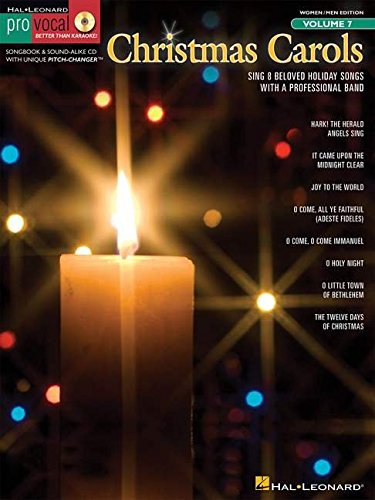 Pro Vocal Volume 7 Christmas Carols Vce Book/Cd (Pro Vocal Better Than Karaoke Women/Men)