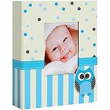 Album per fotografie Bambini, Bravo, colore: blu a tasche, per 200 foto, 10 x 15 cm