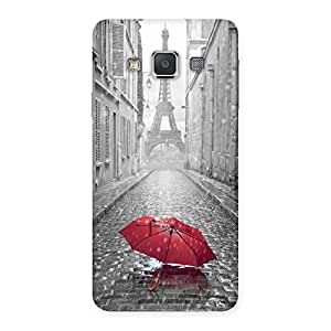 Enticing Tower Red Umbrella Multicolor Back Case Cover for Galaxy A3
