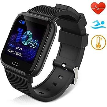 Huyeta Reloj Inteligente Impermeable IP67 Smartwatch Pantalla Táctil Completa Pulsera de Actividad Mujer Hombre Niño Reloj Deportivo a Prueba de ...