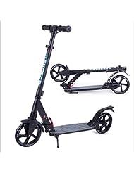 BAYTTER faltbar Kinderscooter Cityroller Roller aus Aluminium für Kinder ab 8 Jahre und Erwachsene, Lenker in der Höhe verstellbar, Scooter big wheel
