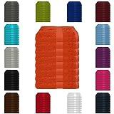 8 tlg. Handtuch-Set in vielen Farben - 8 Handtücher 50x100 cm - Farbe terra