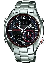 Casio ERA-100D-1A4VUEF - Reloj analógico y digital de cuarzo para hombre con correa de acero inoxidable, color plateado
