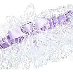 Liga de boda - cinta en tono lila