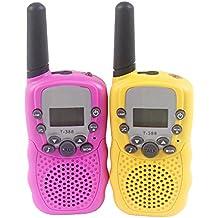 Xiaoyu 2PCS T-388 embroma la radio de la manera del walkie talkie 0.5w 8 canales 2 para los niños con la linterna
