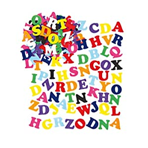 Baker Ross feltro lettere, colori assortiti, 23mm