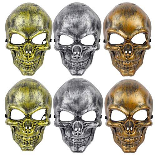 hädel Maske Halloween Horror Schädel Erwachsene Zombie Geistermaske Skeleton Scary Kostüm Party Requisiten Kostüm Screaming Corpse Kopf Maske Halloween Party Favors ()