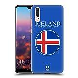 Head Case Designs Isländische Fahne Fahnen Flicken Ruckseite Hülle für Huawei P20