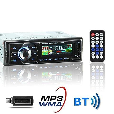 KYG Poste Radio Voiture Auto Radio Stéréo Bluetooth de Voiture
