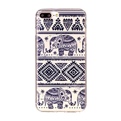 Hülle für iPhone 7 plus , Schutzhülle Für iPhone 7 Plus Bunte Streifen und schwarze Punkte Muster Soft TPU Schutzhülle Rückseite Cover Shell ,hülle für iPhone 7 plus , case for iphone 7 plus ( SKU : I IP7P2204C