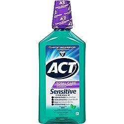 Act Total Care Mild Mint Anticavity Fluoride Mouthwash, 33.8 oz