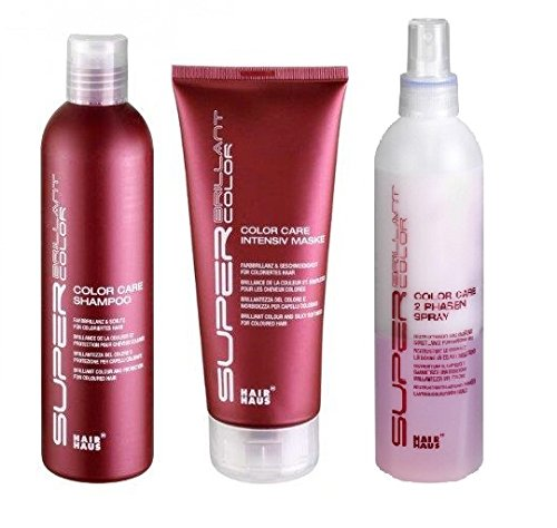 SBC Color Care Set: Shampoo 250 ml & Maske 200 ml & 2 Phasen Spray 250 ml -