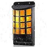 Draussen Solar Wandleuchten, Wasserdicht Tanzen Flackernde Flammen Licht mit 66 LED, Automatisch An/Aus, Solarbetrieben Gartenleuchten, Hof, Zaun, Garage, Patio Dekoration
