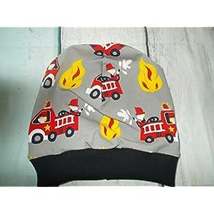 Kinder Mütze Beanie Feuerwehr Jungs