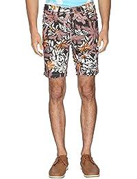 Vettorio Fratini Brown Mens 4 Pocket Printed Shorts