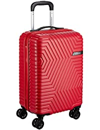 American Tourister Ellen ABS 54.5 cms Red Hardsided Cabin Luggage (AMT Ellen SP55 cm TSA RED)