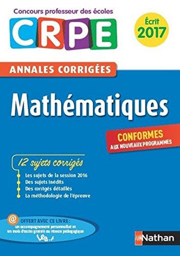 Ebook - Annales CRPE 2017 : Mathématiques