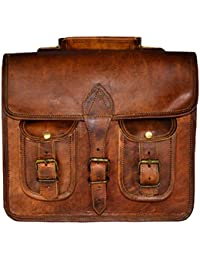ALBORZ Vintage Handcrafted Leather Small Messenger Bag With Size 11L*9H*3W Inches Unisex