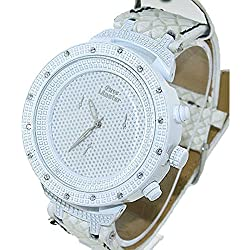 Pave Master Classy 3D Bezel HipHop All White Bling Watch