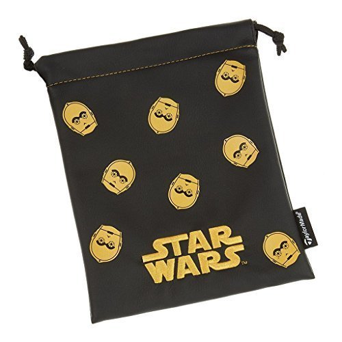 TaylorMade Golf 2017 Star Wars Valuables Pouch Mens Golf Accessories Bag Black/Gold C3PO